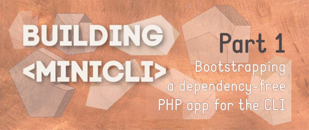 Bootstrapping a CLI PHP application in Vanilla PHP