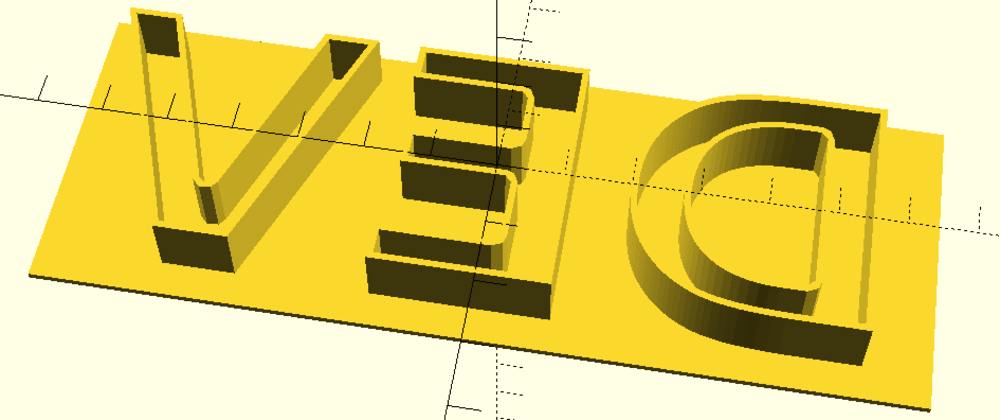 How to Create Letter Molds and Stamps for 3D Printing on OpenScad