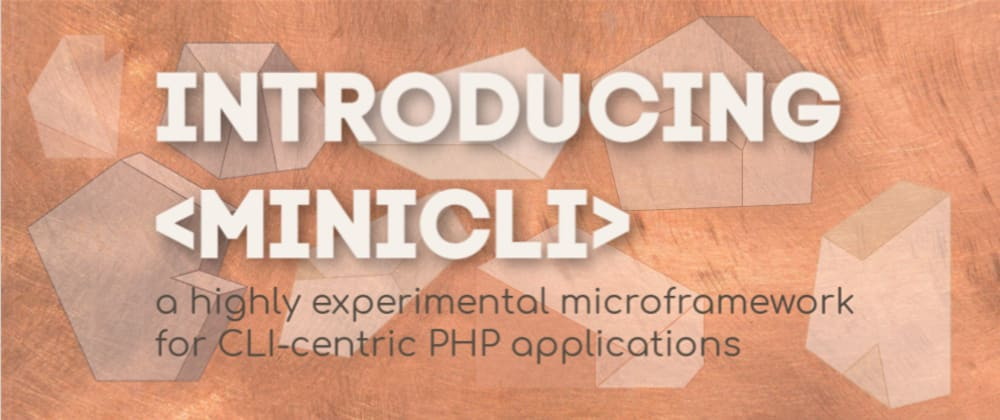 Introducing minicli: a microframework for CLI-centric PHP applications