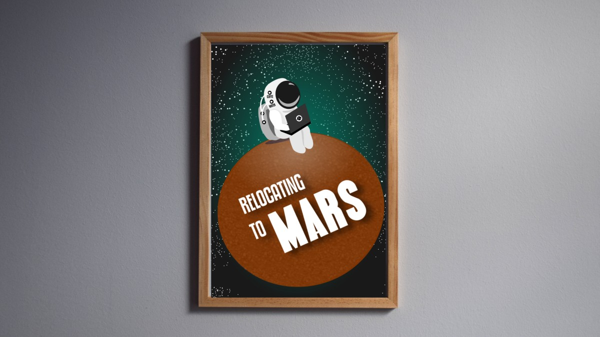 Download Relocating to Mars - A4 High Resolution Printable